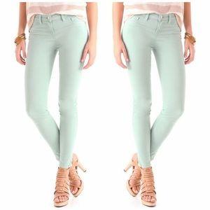 LOFT Mint Green Modern Skinny Ankle Jeans